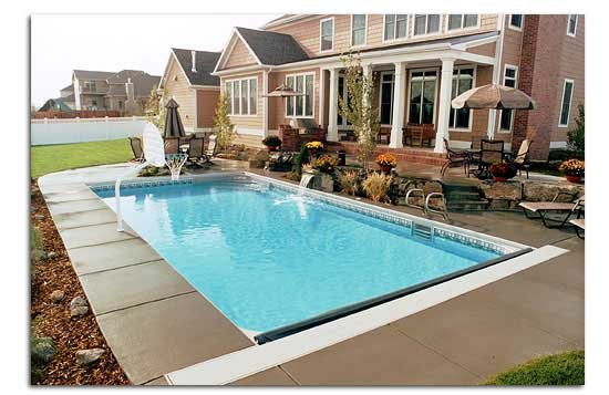 Rectangle Pool Aerial View pendleton pool & spas, inc. | pool contractor | lynchburg